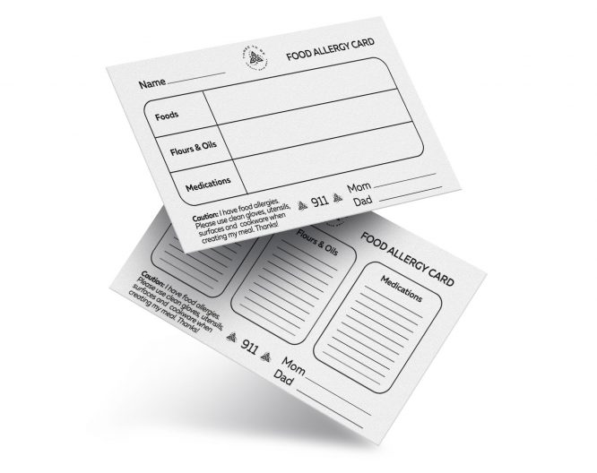 Allergy Cards